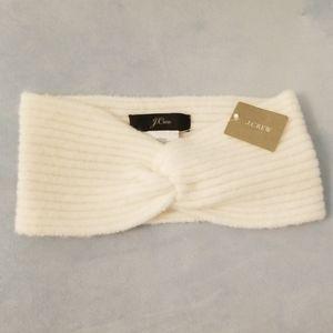 J. Crew - Wool/Alpaca Twist Headband, White